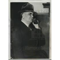 1932 Press Photo Oscar Durante Chicago Board Of Ed Member & Facist Paper Editor