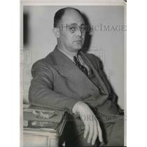 1940 Press Photo Richard Sieben testified in the Chicago hearing of un-American