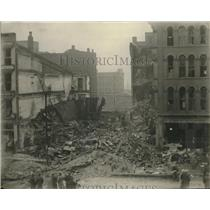 1929 Press Photo Wrecked view of East Jefferson Ave. in Detroit, Michigan