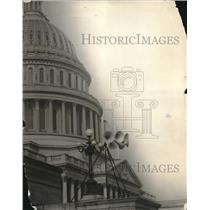 1923 Press Photo Speakers installed At US Capitol Building For Coolidge Speech