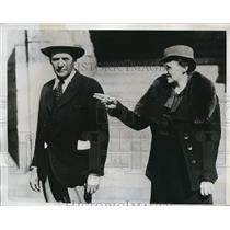 1935 Press Photo Mra George Waters Warden Of Oklahoma Reformatory