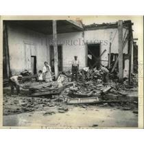 1935 Press Photo Aftermath of a Hurricane in Cienfuegos, Cuba