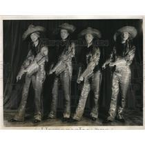 1928 Press Photo Donald Spiller, Nllsnon Downs, Paul Davis, and George C Bowker