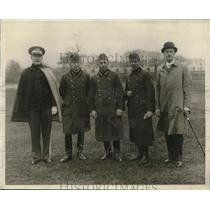 1930 Press Photo Christian, Schaurok, Malanetti, Earedy & Wydenbruck in Hungary