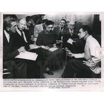 1953 Press Photo Dr. Frtiz A. Lipmann Nobel Prize Lipmann
