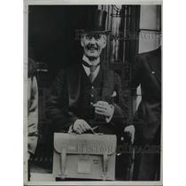 1934 Press Photo Brit Neville Chamberlain doesn't Budget $ for US war debt
