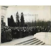 1927 Press Photo choir singers from Vatican, Rome, sing. - nec27701