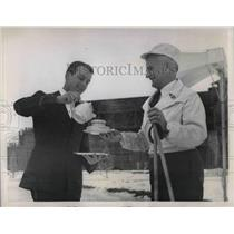 1937 Press Photo Govenor Barzilla W. Clark of Idaho enjoys tea after ski-ing
