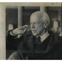1964 Press Photo Norman Thomas, Socialist Party Leader in Pittsburgh