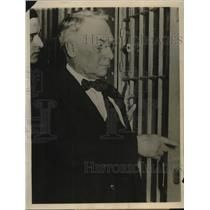 1924 Press Photo Warden Whitman of Illinois State Penitentiary