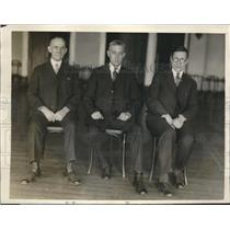 1933 Press Photo Socialists hold Meeting George Snyder, Henry Stump Mayor
