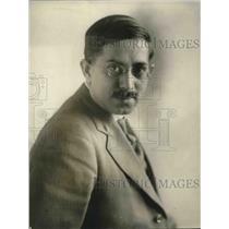 1924 Press Photo Professor Squeiro Coutinho Portugese Knight Commander