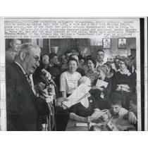1962 Press Photo Louisiana Segregationist Leander Perez Speaks