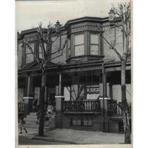 1932 Press Photo Tobias J Burke's Home in Philadelphia
