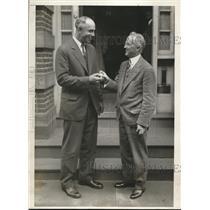 1929 Press Photo Bing Miller, Philadelphia Athletics Jack Lutz Poor Richard Club