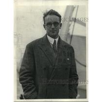 1926 Press Photo Baron Bernard De Prescourt