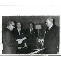 1970 Press Photo Premier Mariano Rumor and President Giuseppe Saragat