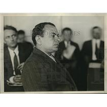1930 Press Photo Printer Max Wagner at the Congressional Committee