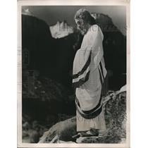 1940 Press Photo Salt Lake City, Utah Grant Redford as Jesus fro Sermon on Mount