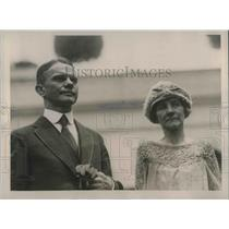 1922 Press Photo Arthur H Geissler with Mrs Geissler White House - nec36614