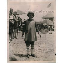 1922 Press Photo Little Betty Gulick in Panty Dress at Brighton Beach Musical