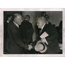 1937 Press Photo Rep William Lemke and Lewis B Ward, Former Lobbyist - nec35707