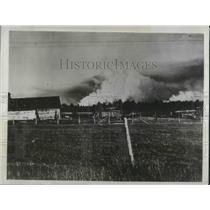 1933 Press Photo Forest Fire Season - nec37276