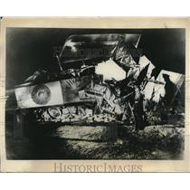 1931 Press Photo plane crash at British Air Force aerodome near Winchester,