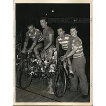 1934 Press Photo Marcel Guimbretiere & Paul Brocardo Frech-Italian Team won 56th