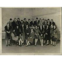 1927 Press Photo New york society girls for the benefit matinee.