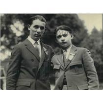 1923 Press Photo Harry Cohen and Leo Kairlin winners.