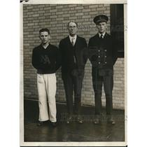 1930 Press Photo Coxswain H. Rivera, Richard Glendon and K.L. Nutting