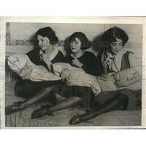1922 Press Photo SW Strauss & Co M Schmidt, R Solomon, V Bagby & babies