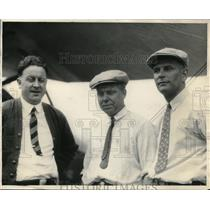 1926 Press Photo J. F. Meade, C. L. Love And Pilot H. C. Mummert