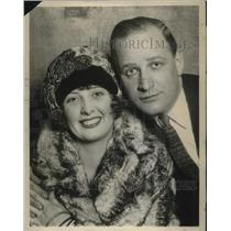 1924 Press Photo Vaudeville actors weds