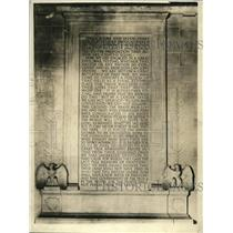 1922 Press Photo Emancipation Proclamation Set In Stone At Lincoln Memorial