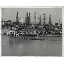 1932 Press Photo Finish of first heat, 2-oar sculls event
