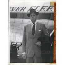 1944 Press Photo US Ambassador Norman Armour arrives Washington Airport