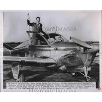 1951 Press Photo Rep. Peter Mack Jr stops flight around the world in Washington