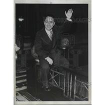 1934 Press Photo Franco Georgetti, Italian bike star arrives in NYC - nec37337