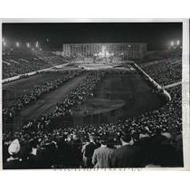 1932 Press Photo Religiious Masses At WWII Holy Hour At Chicago Soldier's Field