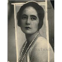 1922 Press Photo Feminist Mrs WL George Wife Of Famed English Author - nec31784