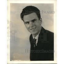 1931 Press Photo 4th winner Nat'l Radio Audition baritone of NYC Raoul Nadeau
