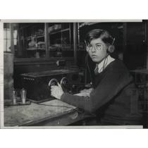 1929 Press Photo Ed Redington, HS student & amateur radioman in NYC