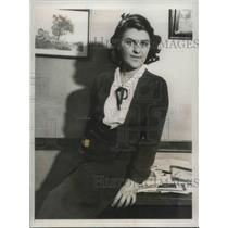 1932 Press Photo Theodore Ussai, Secretary to Count Buzzi-Gradenigo