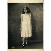 1923 Press Photo Letty Noles a child musical prodigy