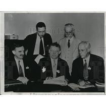 1934 Press Photo Socialist Party assembled in Detroit