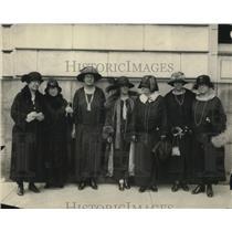 1924 Press Photo Mrs. Raymond Morgan, Mrs, Martin Hutchene, Miss Garlon Delandy.