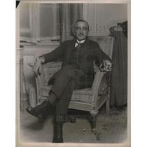 1922 Press Photo Mr. W. Linte Smith visits Armerica New York