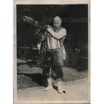 1923 Press Photo Fattest shriner of all those in Washington. Richard Standish